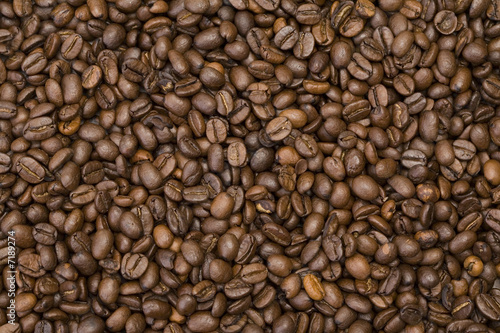 Deurstickers Koffiebonen Coffee beans background