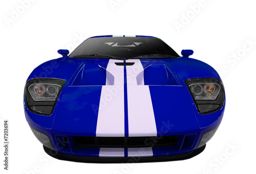 Deurstickers Snelle auto s blue american sports car