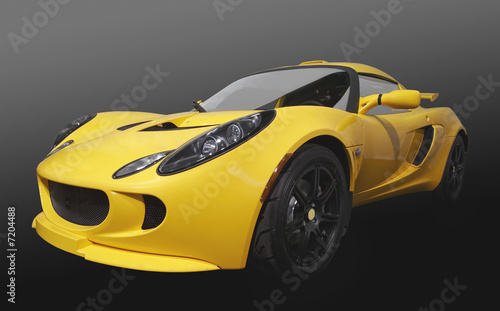 Deurstickers Snelle auto s yellow British Sports Car