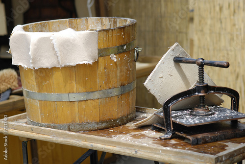 Valokuva  Medieval tradition of papermaking