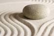canvas print picture - Zen stone