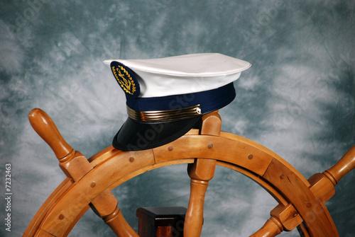 Stampa su Tela timone e berretto da capitano