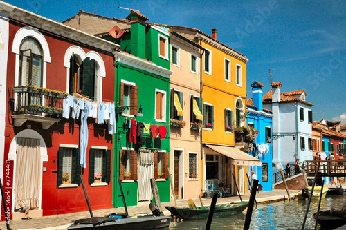 Canvastavla Burano's colors