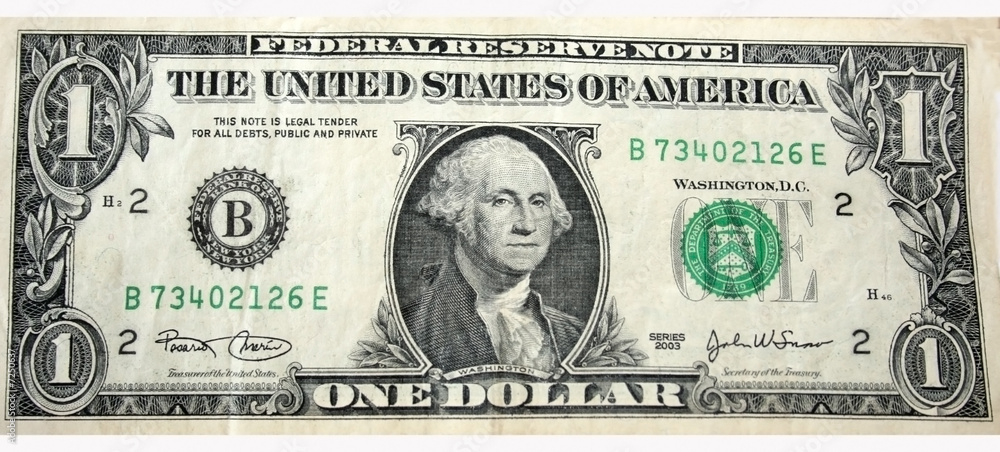 Fototapeta One Dollar Bill