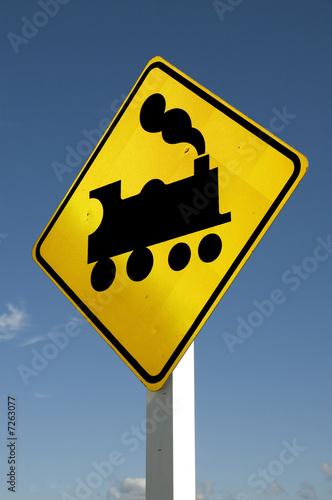 Fotografie, Obraz  Train sign