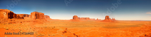 Fotobehang Oranje eclat High Resolution Image of Monument Valley Arizona