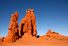 Desert Rock Formations In Monument Valley Arizona