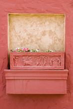 Terracotta Planter Box And Pretty Relief Motifs