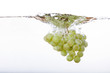 Leinwanddruck Bild - Grapes Splash