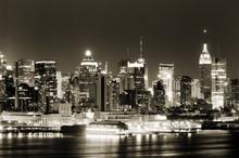 Manhattan West Side At Night