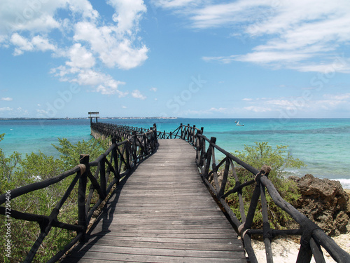 Cadres-photo bureau La Mer du Nord Puente en Prison Island - Zanzibar