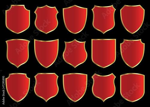 Fototapeta shield design set