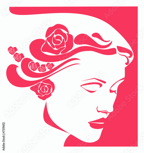 Floral femme Woman's Face