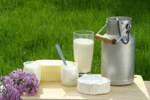 Fotografie, Obraz  produits laitiers
