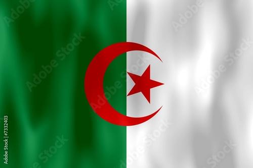 Fotobehang Algerije drapeau algérie algerie algeria flag