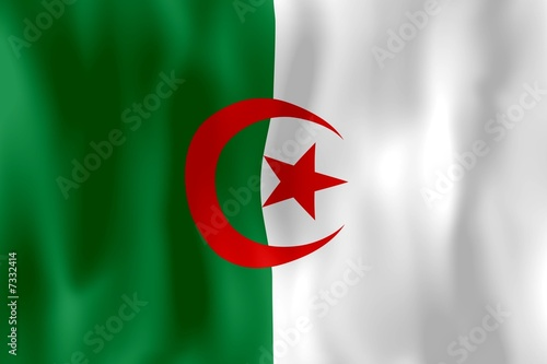 Photo Stands Algeria algérie drapeau froissé algeria crumpled flag