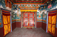 Buddhist Monestary Interior, M...