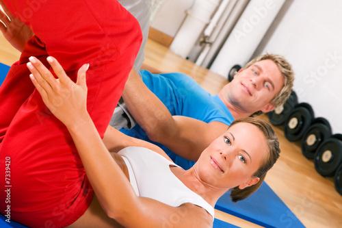 Fototapeta Bauchmuskelübung obraz na płótnie