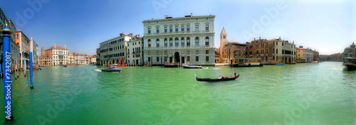 In de dag Venetie Venice. Grand Canal (panorama).