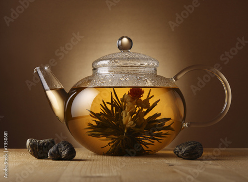 Teapot with Chinese tea #7350681