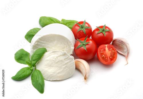 Fotografie, Obraz  Mozzarella and tomatoes