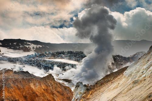 Autocollant pour porte Volcan Active volcano
