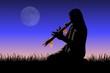 canvas print picture - flauto Lakota