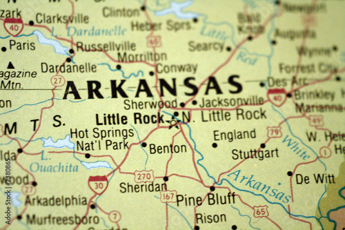 Map of Little Rock Arkansas - Buy this stock photo and explore ...
