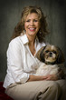 Happy Mature Woman with Dog