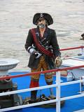 Pirat auf einem Schiff