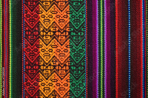 Traditional andean tapestry from northern Argentina and Bolivia. Canvas Print
