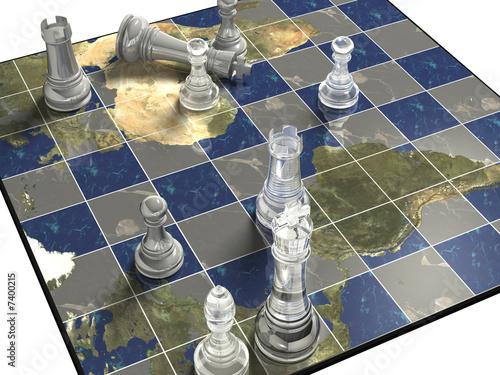 Political Chess Fototapet