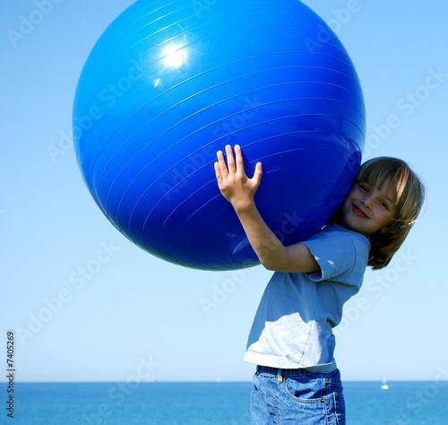L'Enfant au Ballon Bleu 06 Canvas Print