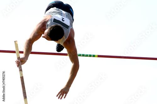 Atletismo Salto con Pertiga Canvas Print