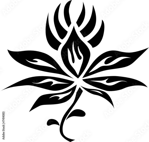 544ce64a6 Tribal Flower Tattoo - Buy this stock vector and explore similar ...