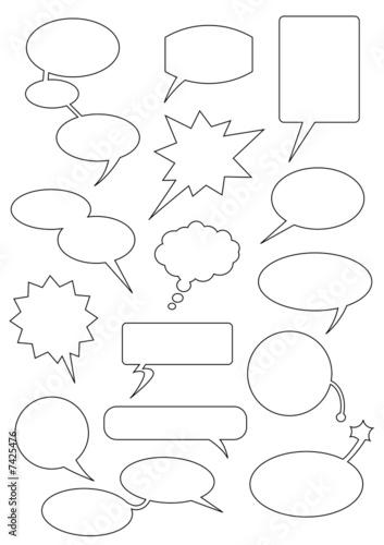 Speech_bubbles Canvas Print
