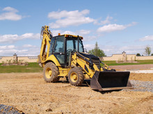 Front End Loader At A Construction Site