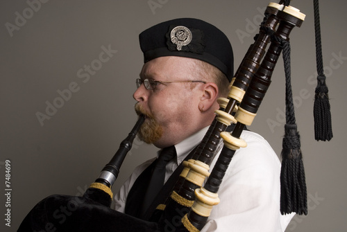 Fotografia bagpipe player close-up