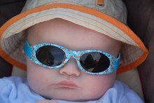 Cute Baby Wearing Sunglasses
