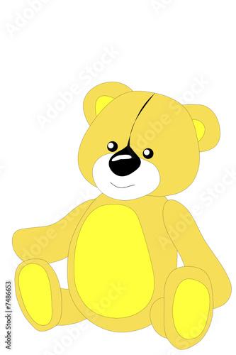 Wall Murals Bears Children's toy, bear,Vector, illustration