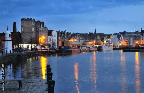 Obraz na plátne Edinburgh, alter Hafen Leith