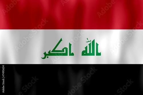 Fotografering  drapeau irak iraq flag