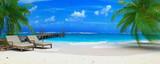 Fototapeta Fototapety z morzem - caraibean beach ponton 06