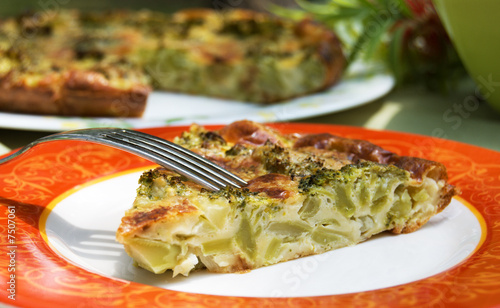 Fotografia Piece of  broccoli pie