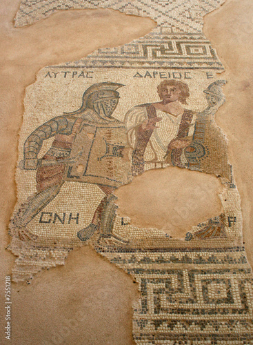 Foto op Canvas Cyprus Cyprus - The Gladiator Mosaic at Curium