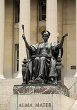 Statue Of Alma Mater At Columbia University, New York