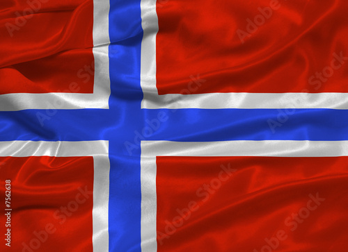 Norway Flag 3 Wallpaper Mural