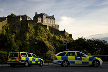 Edinburgh Castle And Police