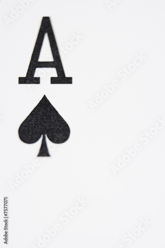 Photo  Close up of Ace of Spades