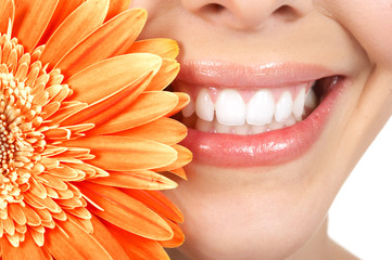 Panel Szklany Podświetlane Do dentysty Woman teeth